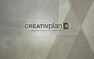 Hintergrundbild Beton mit creativplan Logo